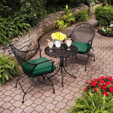 Clayton Court 3-Piece Motion Outdoor Bistro Set, Seats 2 - Best quality for a low price (Best 3 Seat)