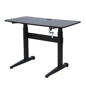 UPSIT DESK Height Adjustable Office Desk Computer Workstation with