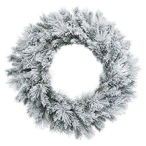 - Vickerman Flocked Castle Pine Wreath