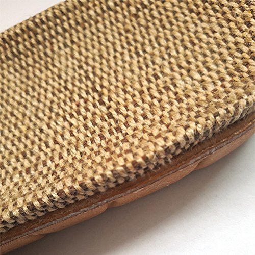 Skidproof for Brown Summer Indoor Sandals Slippers Outdoor Wind Goal Linen Indoor Women House Beach Men Slippers Shoes cwA0Xvqa