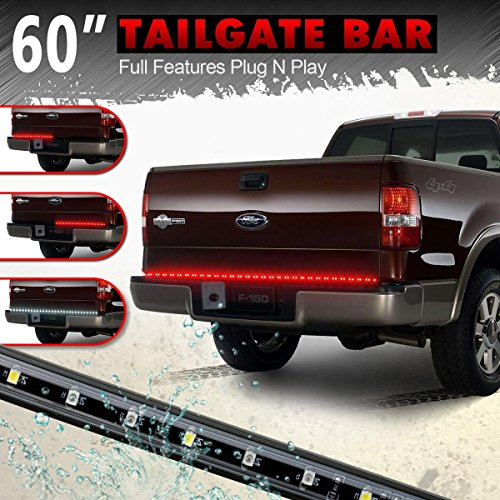 "Partsam 60""red/white Tailgate LED Strip Light Bar for Reverse Brake Turn Signal Tail for 1988-2002 Chevrolet K1500 K2500 K350 Pickup Truck"