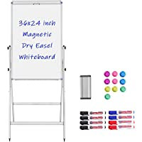 36 x 24 Inches Magnetic Dry Erase Whiteboard ,Aluminum Alloy Frame &Bracket Easel Style White Board with Dry Erase…