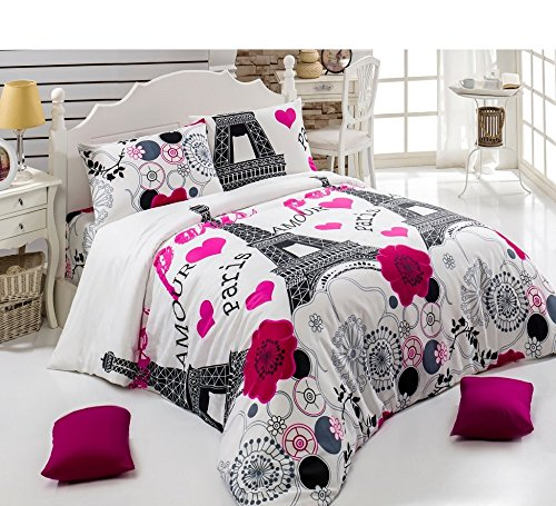 Paris  Piece Bedding Comforter Set Queen Size