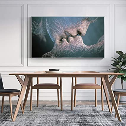LiMengQi Modern Animal Two Horses Graffiti Art Canvas Painting Wall Art Poster Print Painting Printed on Canvas Wall Decoration (no Frame) A3 30x60CM: Amazon.es: Hogar