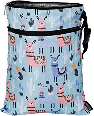 Waterproof Zipper Bag Washable Baby Cloth Nappy Changing Diaper Bag Animal