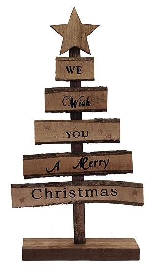 Amazonde Toller Tannenbaum Aus Holz Merry Christmas