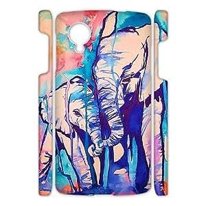 Canting_Good Elephant Custom Case Shell Skin for Google Nexus 5 3D