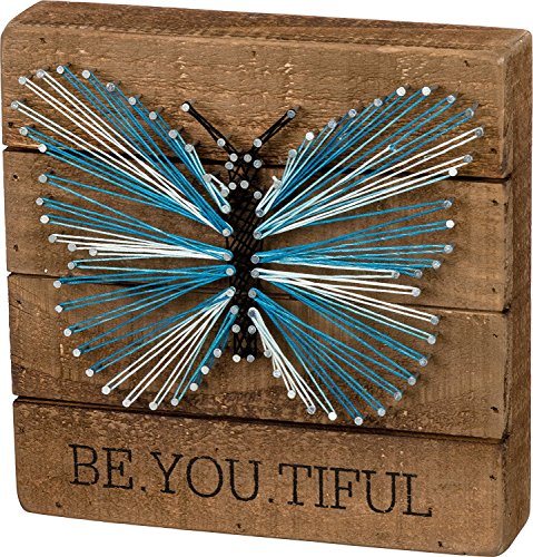 Primitives by Kathy Butterfly String Art on Wood