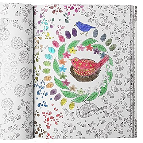 Adult Coloring Book Set 50 Page Detailed Coloring Book for Adults Relaxation with 12 Staedtler Watercolor Colored Pencils for Adult Coloring Books