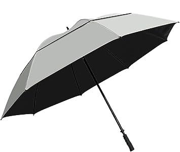 """Sol paraguas de Golf Tek 68 """", Unisex, Silver / Black"""