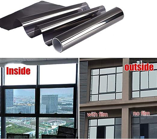 Home Office Window Film Tint Glass Sticker Privacy Heat Reflective Mirror Effect