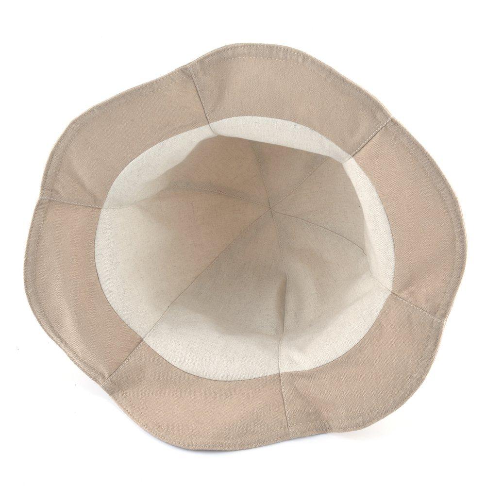 AOBRITON Sun Hats Women Beach Hat Linen Cotton Girls Bucket Hats Morning Glory Cap