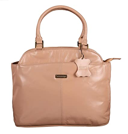 dd093fb03e04 Buy Sumannya Genuine Leather Pink Ladies Handbag Online at Low Prices in  India - Amazon.in