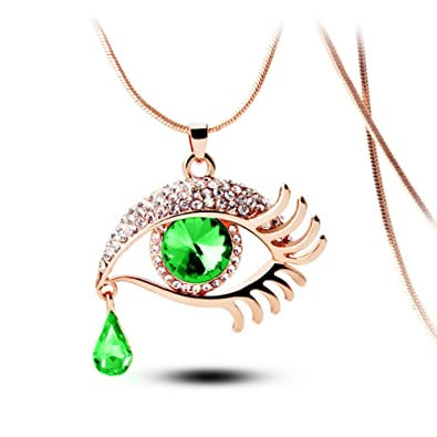 Amazon angels tears gold plated eye shape austrian crystal amazon angels tears gold plated eye shape austrian crystal pendant necklace for womens in fashion jewelry jewelry aloadofball Image collections