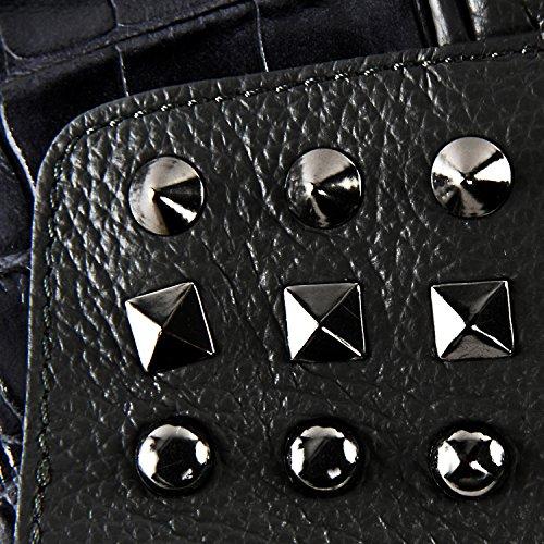 Modèle Sac à femme en clouté Main Rebel cuir croco Fonce Gris 0OqCT0