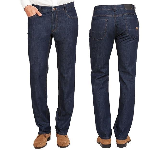 Amazon.com: Enzo Hombre Modern Fit Lujo Denim Comfort Jeans ...