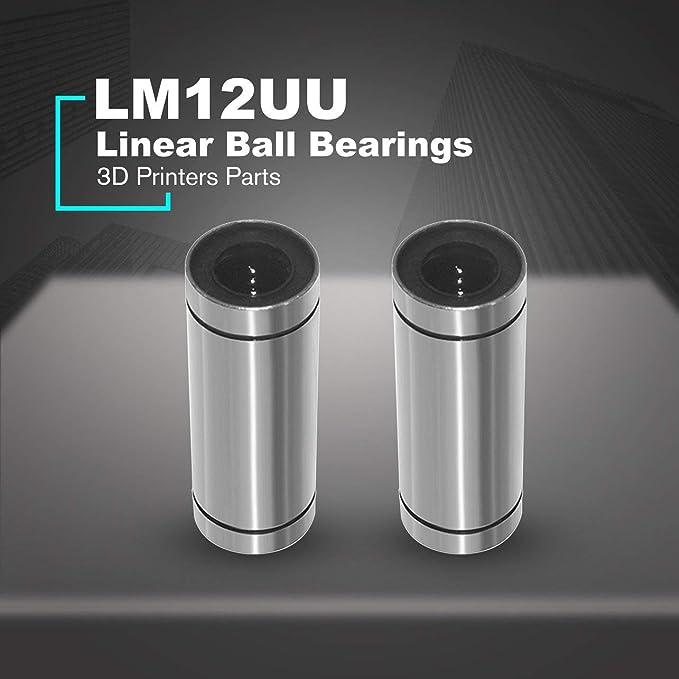 2 piezas/porción de bolas lineales LM12UU Rodamientos Crucigrama ...