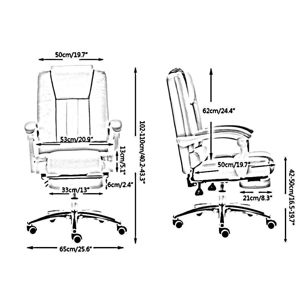JIEER-C stol datorstol vilande E-sport spelstol höjd justerbar högrygg PU-läder dator skrivbord stol upphöjande roterande ergonomiskt tv-spel svängbar stol, med fotstöd No Footrest