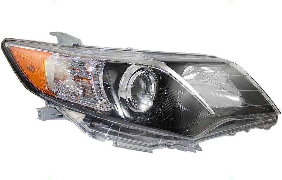 HEADLIGHTSDEPOT Compatible with Parking Signal Lights Pair w//Clear Lens Blk Bezel Left Driver Right Passenger Set Fits Toyota FJ Cruiser