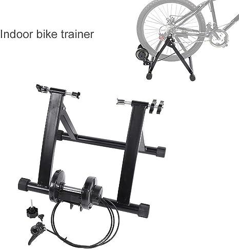 AYNEFY Entrenador de Bicicleta, Indoor Trainer Bicicleta Plataforma de Entrenamiento Rodillo de Bicicleta para Entrenamiento de Ciclismo en Casa: Amazon.es: Deportes y aire libre