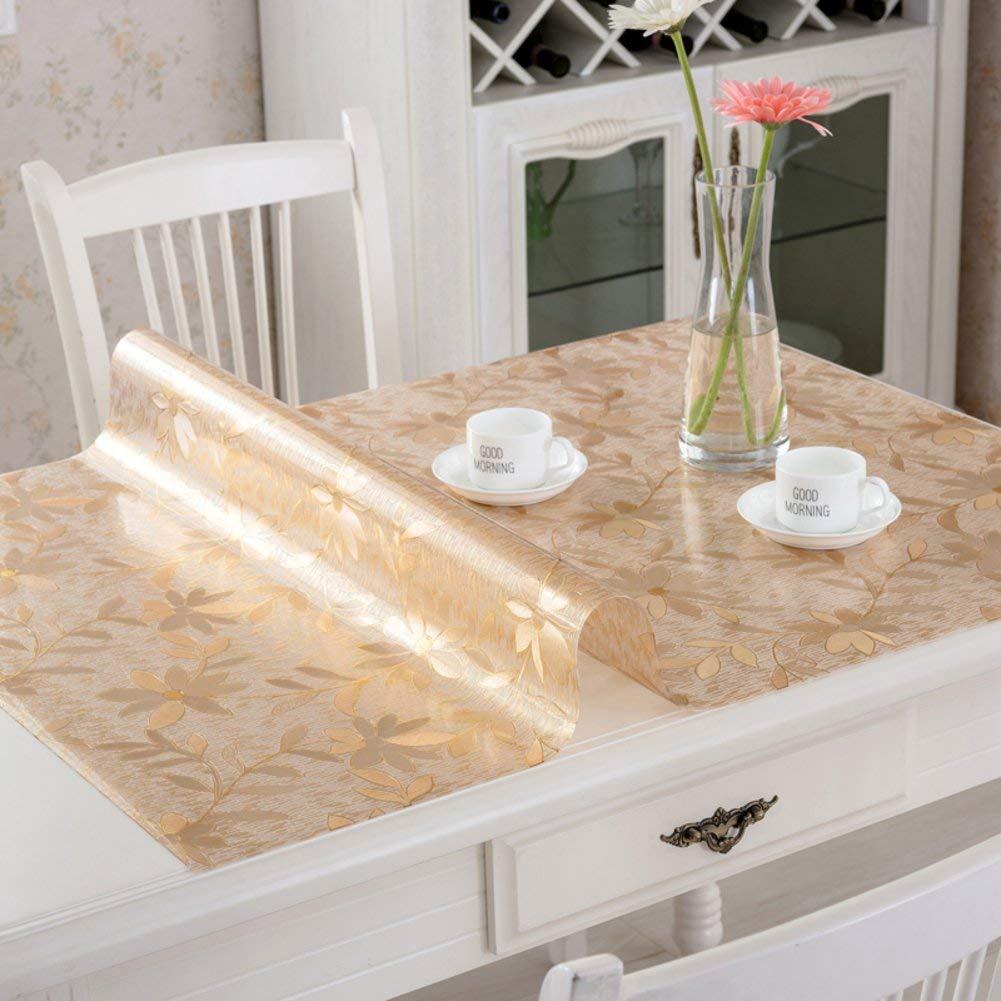 Shuangdeng ポリ塩化ビニールのテーブルクロス水およびオイルの証拠のテーブルクロス柔らかいガラスはテーブルクロスをつや消し (Color : B, サイズ : 80x140cm(31x55inch))   B07RRVQZ48
