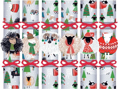 Christmas Crackers Box of 12 Crackers for Christmas Decorations or Party Favors Animals (Crackers Best Christmas)