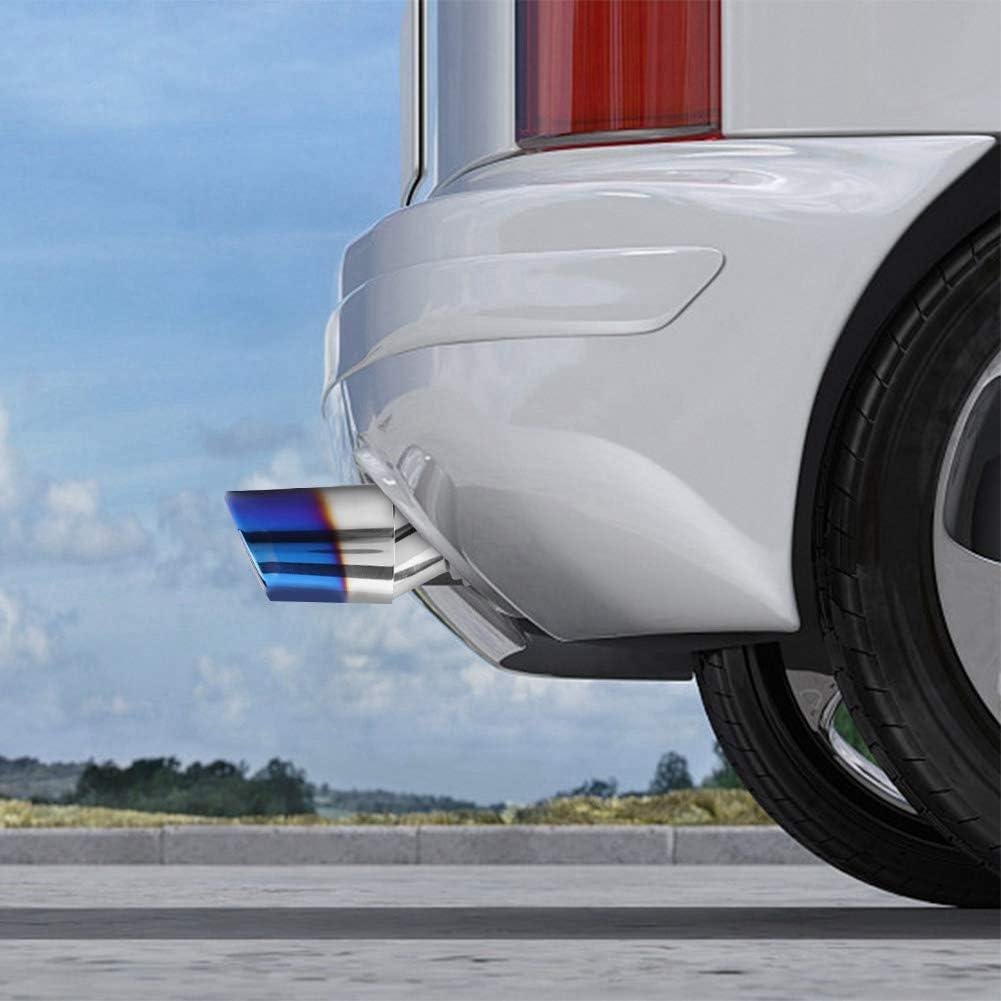 gorge tuyau d/échappement courb/é de voiture en acier inoxydable bleu et en acier inoxydable Universal Embout de silencieux arri/ère Embout de silencieux