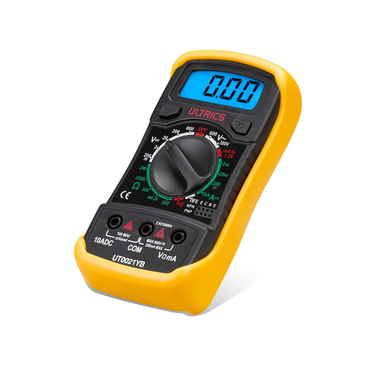 ULTRICS/Â Digital LCD Multimeter Voltmeter Ammeter OHM AC DC Circuit Checker Tester Buzzer 1000V 10A Probes