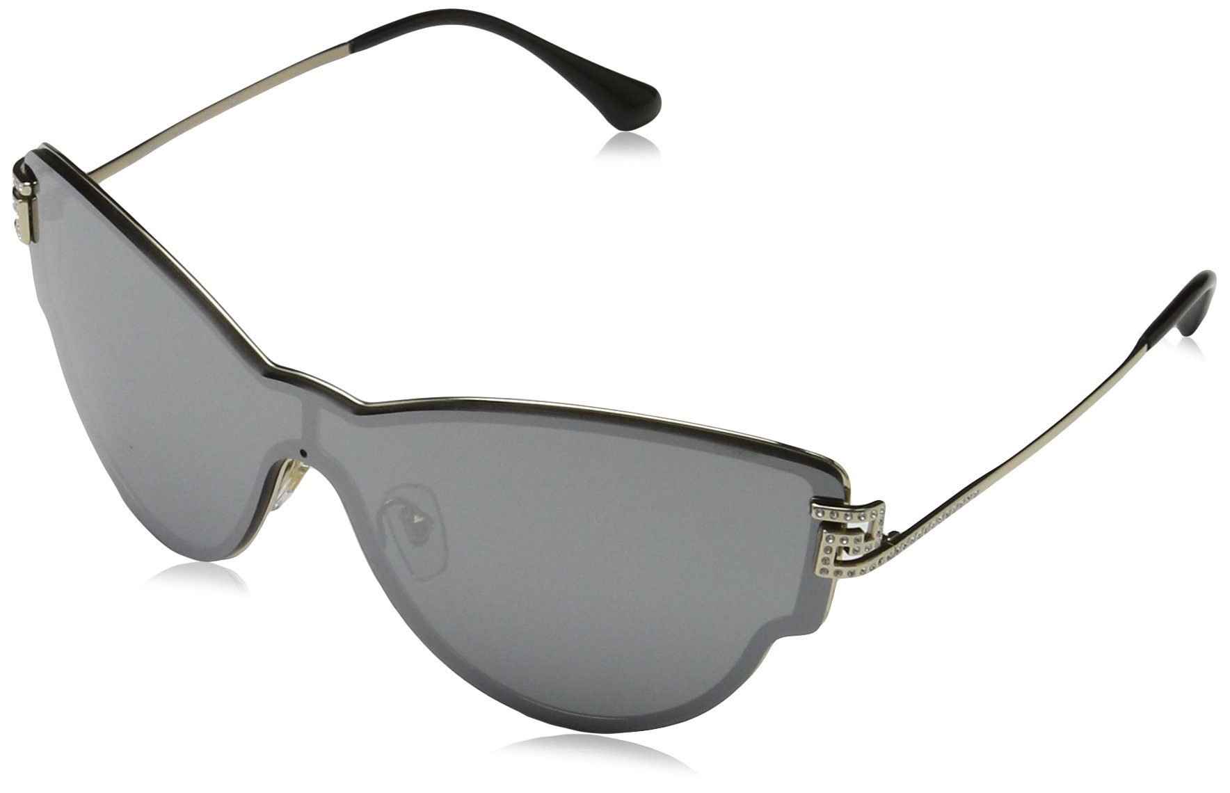 Versace Womens Sunglasses (VE2172) Gold/Silver Metal - Non-Polarized - 42mm