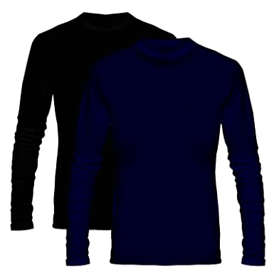 1c95dfb7344 Wild Thunder Plain Solid Combo T Shirt - Navy Blue and Black Combo Full Hand  Round Neck Cotton T Shirt  Amazon.in  Clothing   Accessories
