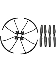 MonkeyJack 4pcs Propellers+Propeller Protection Cover for VISUO XS809 XS809HC XS809HW RC Drone Spare Parts