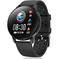 CatShin Smart Watch Activity Tracker con monitor de frecuencia cardíaca - CS06 IP68 Impermeable Multifunción Ronda Fitness Bluetooth Reloj deportivo para hombres y mujeres,compatible con iOS y Android