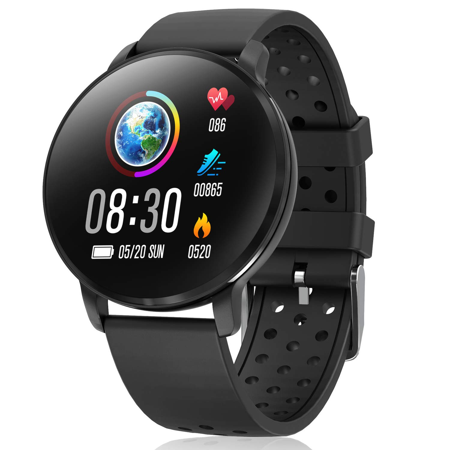 Waterproof Activity Tracker IP68 CatShin CS06 Fit Smart Watch with Heart Rate Monitor Sleep Blood Preasure Fitness Tracker Watch Band Calorie Counter ...