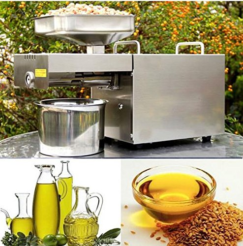 Fghgf Automatic Small Home Oil Press Machine Cold Hot press for peanut,coconut( Stainless Steel,110v) by Unknown