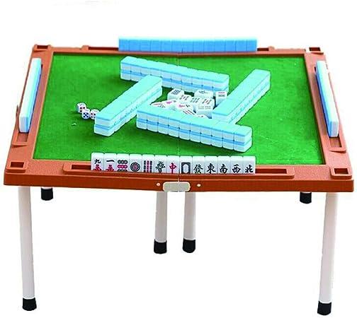 Juego de mahjong, mesa de mahjong desmontable autónoma para viajes domésticos portátiles 144 Mini azul de melamina Mahjong, adecuado para colección de regalo / juego de fiesta (20 * 14 * 10 mm): Amazon.es: Hogar
