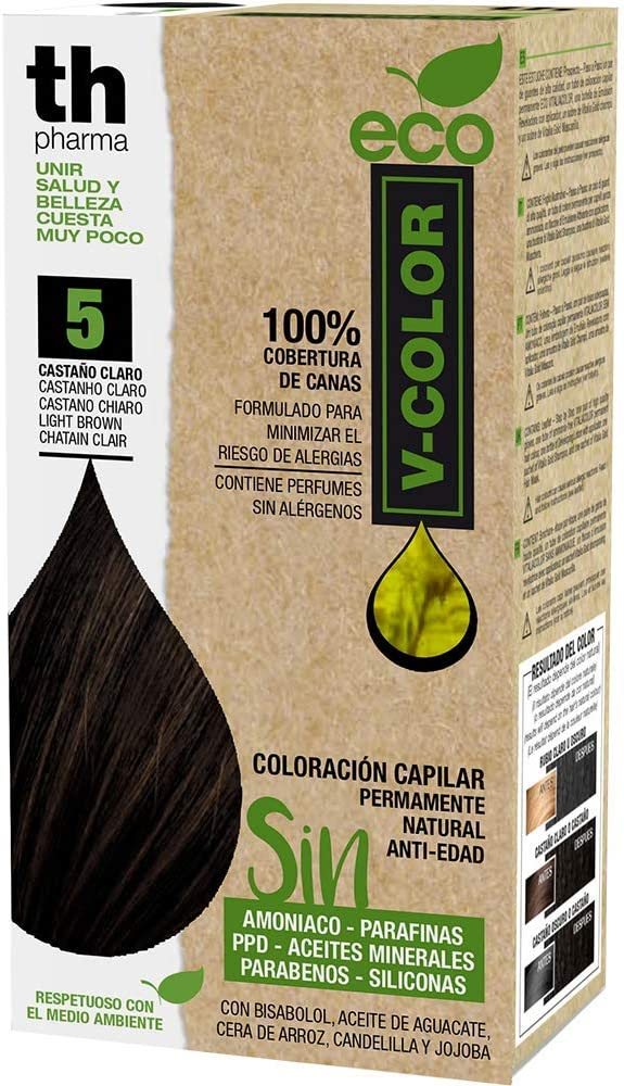 Th Pharma Th Eco Vitalia Color Tinte Nº 5 Castaño Claro 250 g