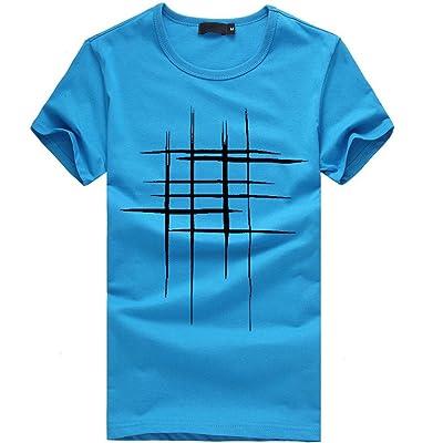 6734499f54398 VENMO Camisetas Hombre Manga Corta Baratas Camisetas Hombre Originales  Divertidas Camisas de Hombre Manga Corta Algodón de Estampadas (Azul