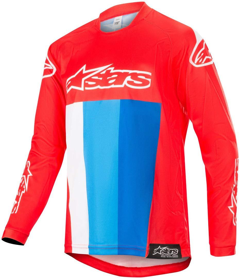 2019 Alpinestars Racer Tech Atomic Red Navy Blue MX Motocross Race Jersey Adults