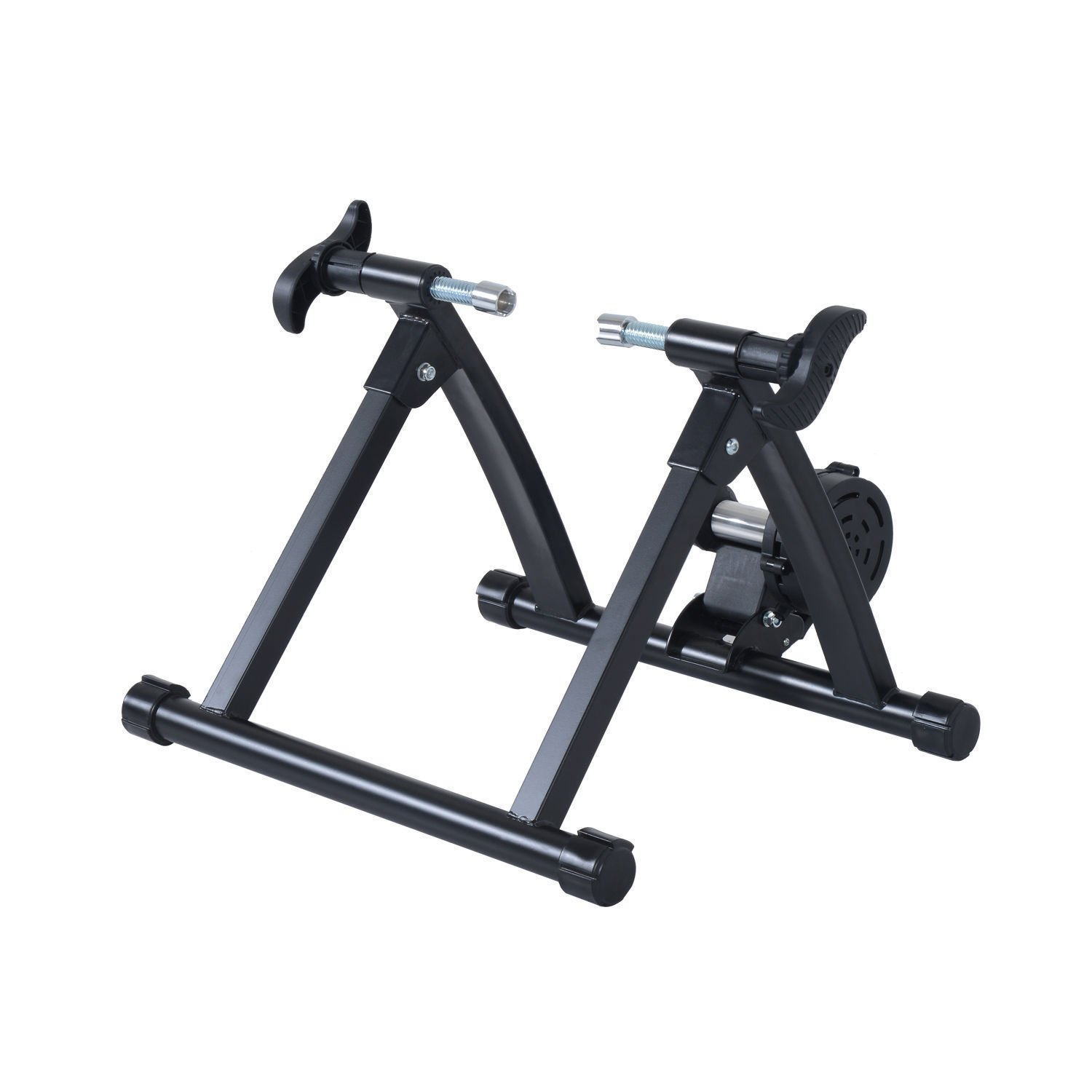 Folding Indoor Magnetic Bike Trainer Exercise Bicycle Cycling Black onestops8