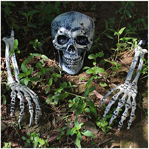 JOYIN Realistic Looking Skeleton Stakes, Yard Lawn Stakes, Groundbreakers for Best Halloween Yard Decorations