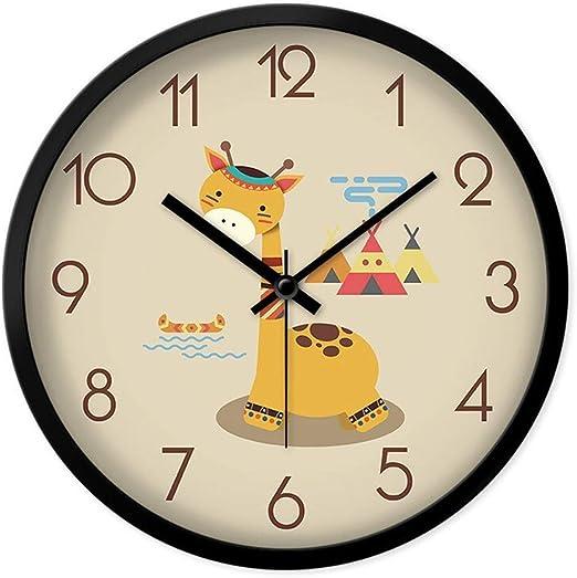 ZJZBZ Reloj de Pared para niños decoración de Dibujos