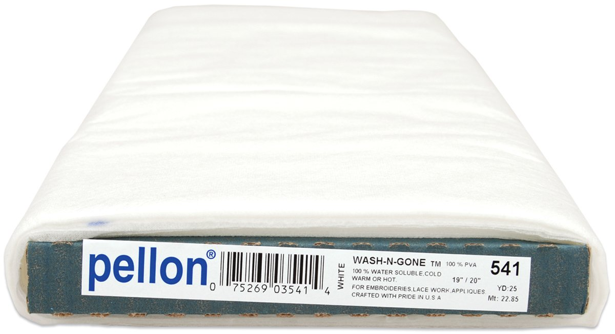 Pellon FBA_541 WaterSoluableStabWetnGone25, 1 Pack, White by Pellon