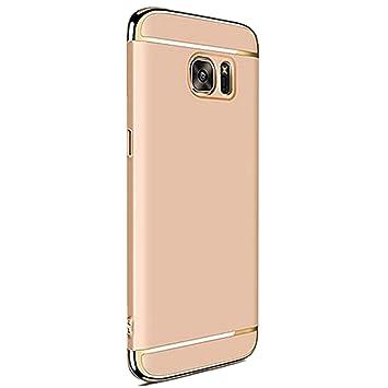 Galaxy S6 Carcasa rígida, caler® Antigolpes de alta calidad PC Ultra Slim Residuos. Antiarañazos Bumper Case Cover Carcasa para Galaxy S6 (gold)
