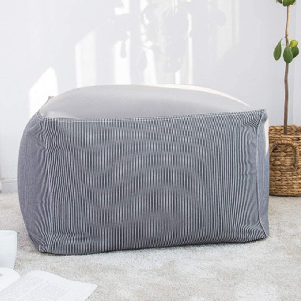 Amusingtao Sofa Japanese Style Lounger Bean Bag Living om Without Filler Pouffe Seat Foot Stool Tatami Cotton end Home Decor Storage Square Cushion Chair(Beige) Grey