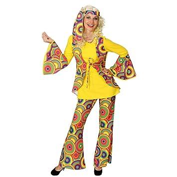 36a7d69a658b2 Hippy Fancy Dress Hippie Costume Colorful 70 's Peace Flower Power Women's  60s Ladies Costume