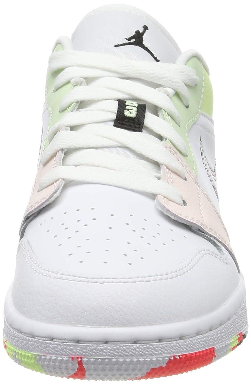 Scarpe NIKE Air Jordan 1Low (GS) 554723 176 WhiteBlackEmber Glow