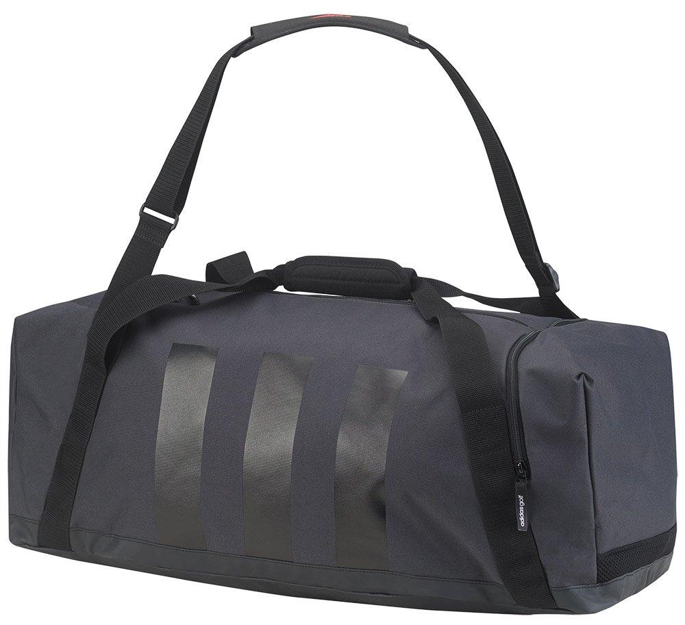 671831798b adidas 2017 3-Stripes Medium Sport Duffel Bag Mens Gym Bag/Travel Holdall  Dark Grey/Black