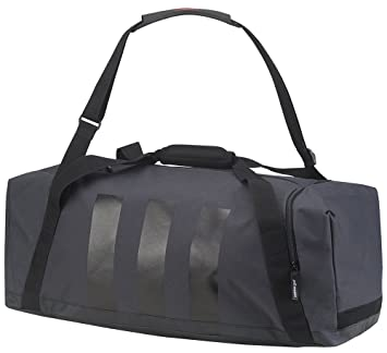 c2db8b8e76 Adidas Men 3-Stripes Duffle Bag - Dark Grey Black Scarlet