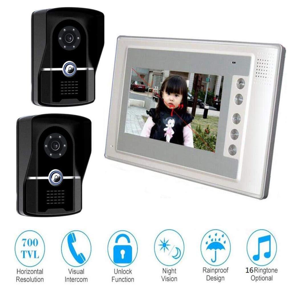 【オープニングセール】 ビデオカメラドアベル7インチインターホンアクセスコントロールシステム、1ボタンロック解除/電話 Waterproof、Night B07R4S18TG Vision Vision Waterproof Doorbell B07R4S18TG, サカイデシ:e4f2f505 --- dou13magadan.ru