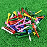 """10. CRESTGOLF Professional 2 1/8"""" Deluxe Wood Golf Tee---Mixed Color,100 Count"""
